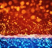 Orange blue lights abstract background Stock Image