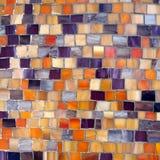 Orange and blue mosaic background Royalty Free Stock Images