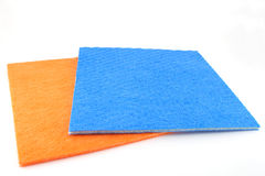 Orange and blue napkins Royalty Free Stock Photography