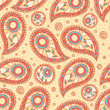 Orange and blue paisley Stock Photography