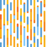 Orange and blue pattern. Vector seamless festive pattern with irregular lines and rounded corners. Stock Image