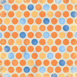 Orange Blue Polka Dot Royalty Free Stock Image