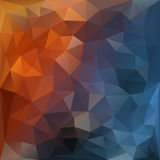 Orange and blue polygonal background. Royalty Free Stock Images