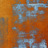 Orange and blue print texture Royalty Free Stock Photo