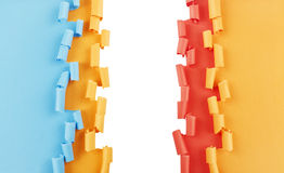 Orange blue red torn paper background Royalty Free Stock Photos