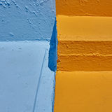 Orange and blue rough surfaces Royalty Free Stock Image