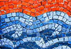 Orange and blue smalt mosaic Royalty Free Stock Images