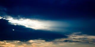 Orange And Blue Sunset. Beautiful dynamic sky royalty free stock image