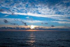 Orange And Blue Sunset Royalty Free Stock Image