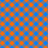 Orange and blue tablecloth diagonal seamless pattern Stock Photography