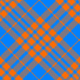 Orange and blue tartan diagonal seamless Royalty Free Stock Photography