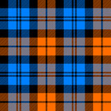 Orange and blue tartan seamless pattern Royalty Free Stock Image