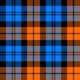 Orange and blue tartan seamless pattern Royalty Free Stock Image