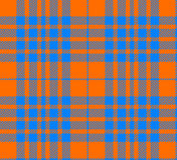 Orange and blue tartan seamless Stock Photography