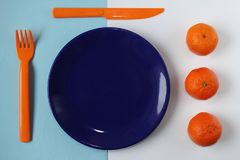 Orange and blue Royalty Free Stock Photography