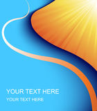 Orange and blue vector background Stock Photos