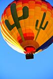 Orange Blue Yellow and Green Hot Air Balloon Royalty Free Stock Photo