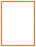 Orange Blumen-Rand Lizenzfreie Stockfotografie