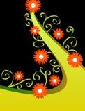 Orange Blumenauslegung Stockbild
