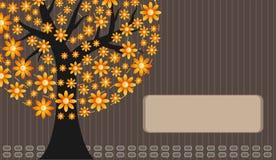Orange Blumenbaum   Lizenzfreie Abbildung