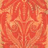 Orange Blumendamast Stockbild