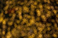 Orange blur bokeh Stock Image