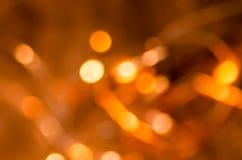 Orange  blurred bokeh lights background Royalty Free Stock Image