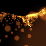Orange blurry dotted wavy background Stock Image