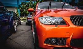 Orange Bmw M Series Royalty Free Stock Image