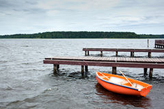 Orange Boat Stock Photo