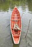 Orange boat. Royalty Free Stock Images