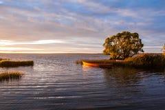 Orange boat Stock Photography