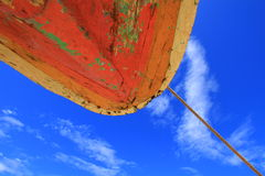 Orange Boat Hull Stock Image