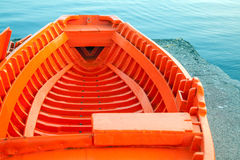 Orange boat Royalty Free Stock Image