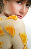 Orange Body Mask Stock Photography