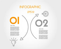 Orange Bogenlinie infographic Lizenzfreies Stockfoto