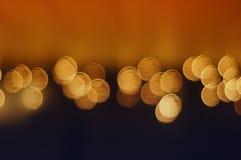 Orange Bokeh. Abstract orange bokeh background image Stock Photos