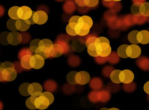 Orange bokeh blur abstract background Stock Photo