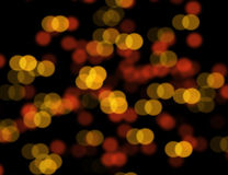Orange bokeh blur abstract background Stock Image