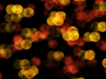 Orange bokeh blur abstract background Royalty Free Stock Photography