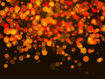 Orange bokeh Stock Photo