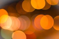 Orange bokeh för bakgrund Fotografering för Bildbyråer