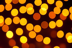 Orange bokeh light, vintage background Stock Photos