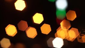 Orange Bokeh Lights (Loopable) 1080i stock video footage