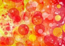 Orange Bokeh modell Royaltyfria Foton