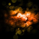 Orange Bokeh Pattern Stock Images