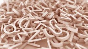 Orange bokstäver Begreppsmässig animering 3D stock illustrationer