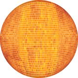 Orange boll i mosaik stock illustrationer