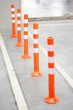 Orange Bollard Stock Photo