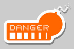 Orange bomb danger Royalty Free Stock Image